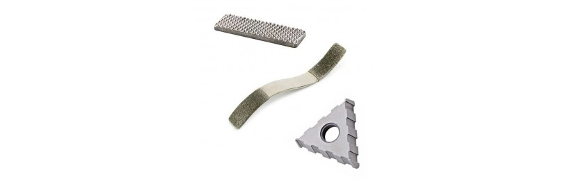 Spare blades for equine dentistry rasps.